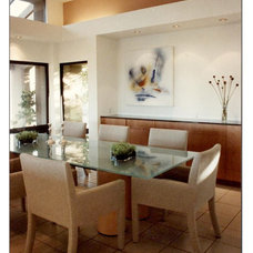 Contemporary Dining Room by Mark Dodge Design