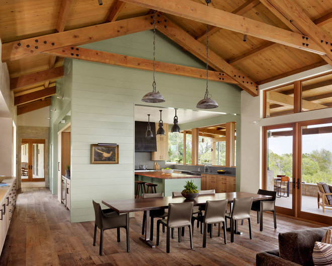 Farmhouse Dining Room by Furman + Keil Architects