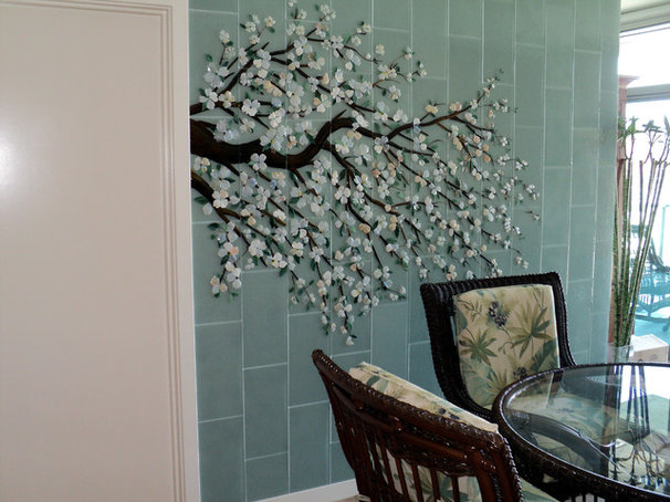 Traditional Dining Room by Designer Glass Mosaics