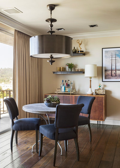 Transitional Dining Room by Tim Barber Ltd Architecture