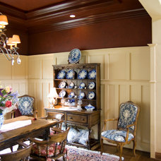 Traditional Dining Room by Francis Garcia Architect