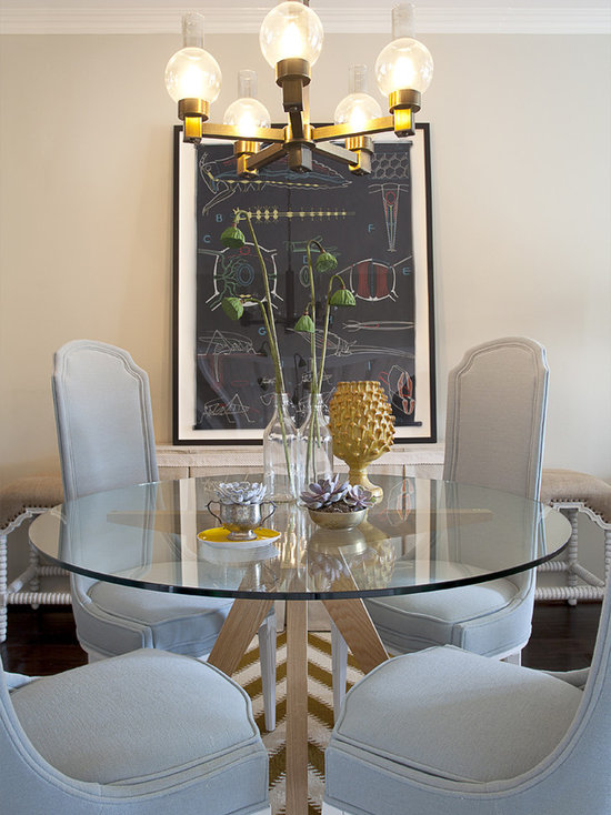 Glass Dining Tables And Chairs Houzz