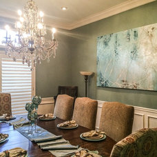 Traditional Dining Room by Jordan Alexis Design, LLC