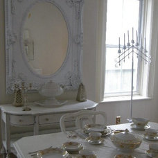 Eclectic Dining Room by Donna Thomas Vintage Chic Furniture