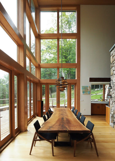 Rustic Dining Room by Todd Zwigard Architects