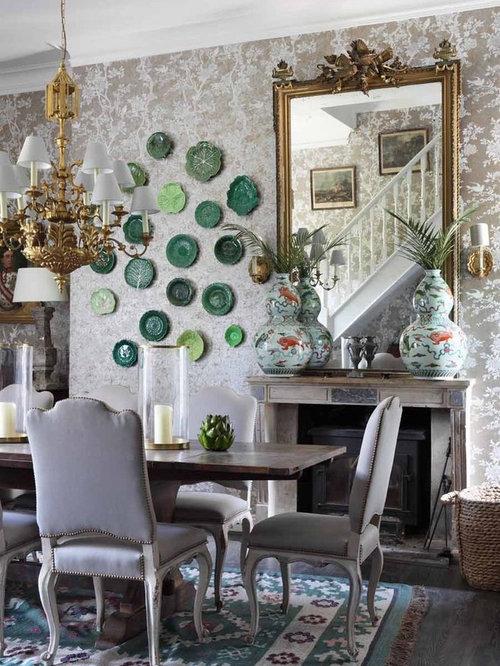 shabby chic style esszimmer mit beiger wandfarbe ideen design bilder houzz. Black Bedroom Furniture Sets. Home Design Ideas