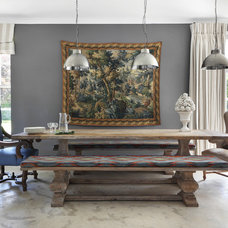 Farmhouse Dining Room by VSP Interiors