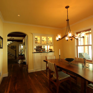 Double Access White Cabinets Between Kitchen and Dining Room