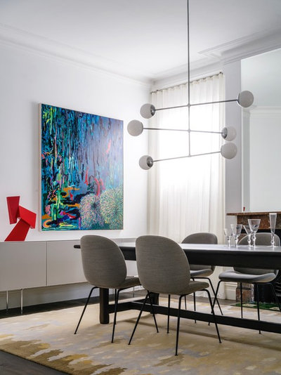 Contemporary Dining Room by ANNA CARIN Design