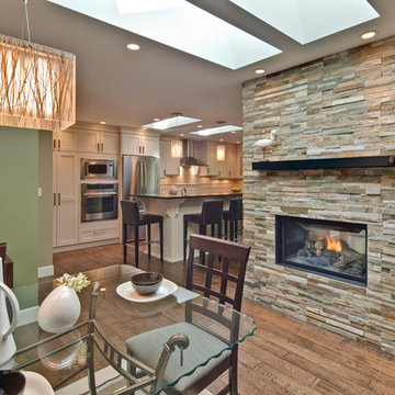 Double Sided Fireplace Dinning Area