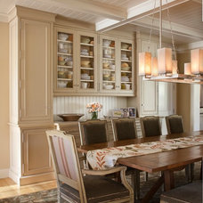 Farmhouse Dining Room by Andrea Bartholick Pace Interior Design