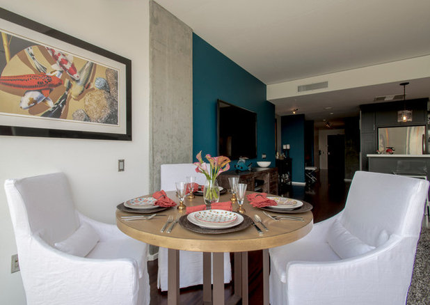 Contemporary Dining Room by CM Designs