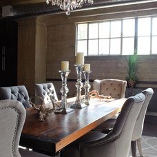 Industrial Dining Room by Cindy Lam Interiors