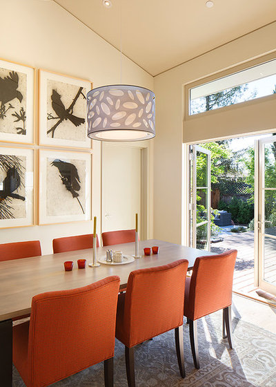 Transitional Dining Room by Amy A. Alper, Architect
