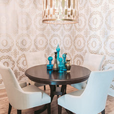 Transitional Dining Room by SuzAnn Kletzien Design