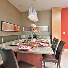 Contemporary Dining Room by Anne Folsom Smith Interior Design