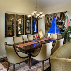 Eclectic Dining Room by Design Brouelette
