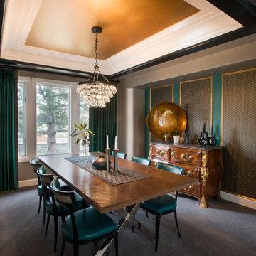 Dramatic, Glamorous Dining Room