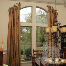 Traditional Dining Room by Custom Drapery Designs, LLC.