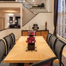Transitional Dining Room by Marks & Frantz Interior Design
