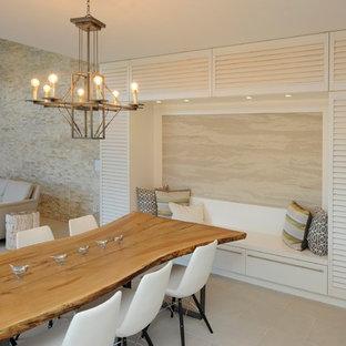 Idee per una sala da pranzo aperta verso il soggiorno minimal