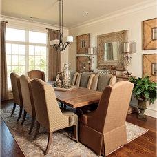 Farmhouse Dining Room by Grandeur Design Company