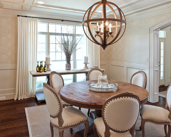 Antique Round Dining Table | Houzz