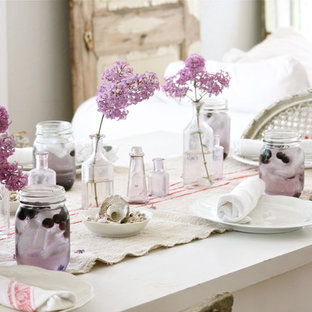 Photo of a shabby-chic style dining room in Other.