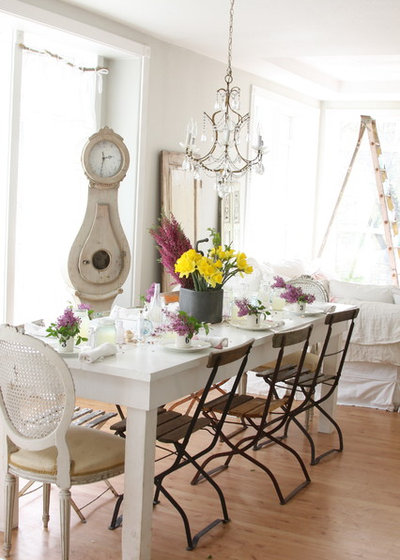 Shabby Chic Style Dining Room By Dreamy Whites