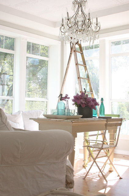 Eclectic Dining Room by Dreamy Whites