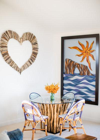 Stunning Beach Style Dining Room by Jodi G Designs