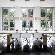 Modern Dining Room by Gaile Guevara
