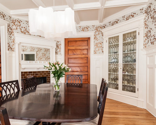 Inspiration For A Victorian Medium Tone Wood Floor Dining Room Remodel In DC Metro With