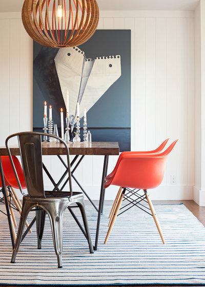 Industrial Dining Room by Regan Baker Design Inc.