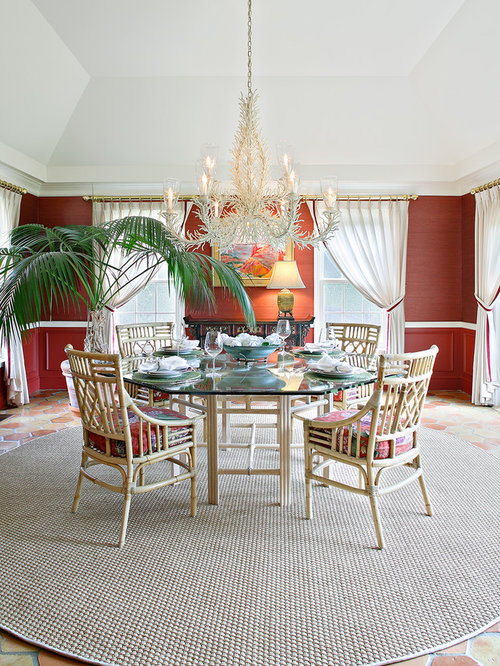 Dining room design ideas renovations photos with terra for Dining room ideas with red walls