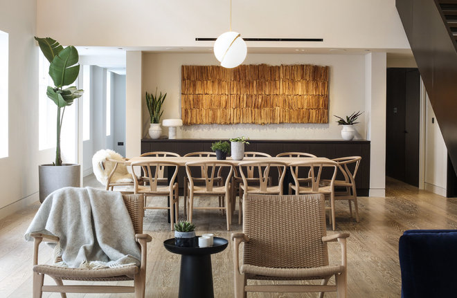 Contemporary Dining Room by Rise Art
