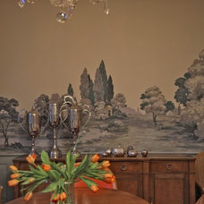 Eclectic Dining Room by Dennison and Dampier Interior Design