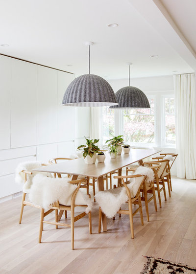 Scandinavian Dining Room by PURE Design Inc