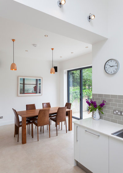 Contemporary Dining Room by Design Squared Ltd