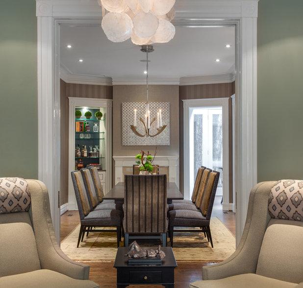 Transitional Dining Room by Samantha Friedman Interior Designs