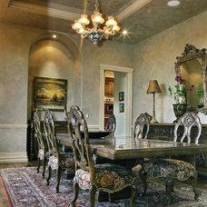 Mediterranean Dining Room by B&B Builders