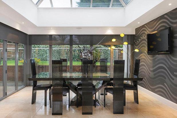 Contemporary Dining Room Durham Home - For Bradley Hall