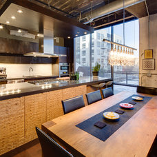 Industrial Dining Room by Mark Teskey Architectural Photography