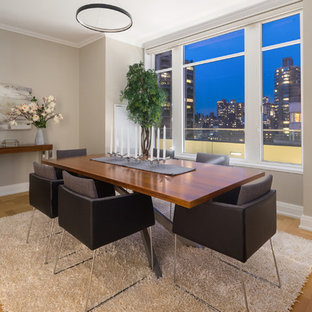 Inspiration For A Contemporary Dining Room Remodel In New York