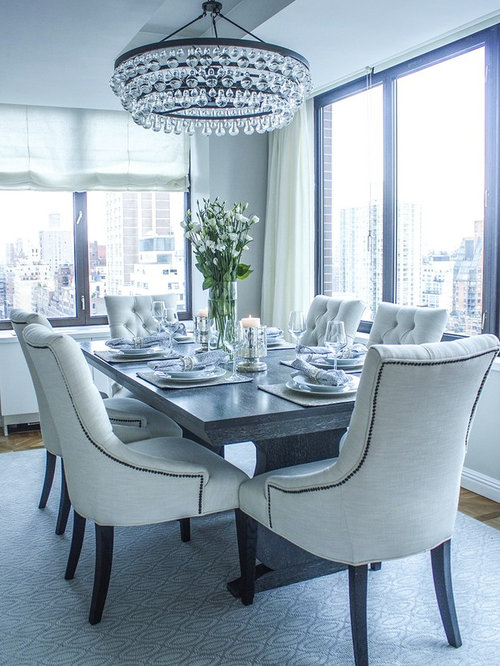 Glamorous dining room houzz for Glam dining room ideas