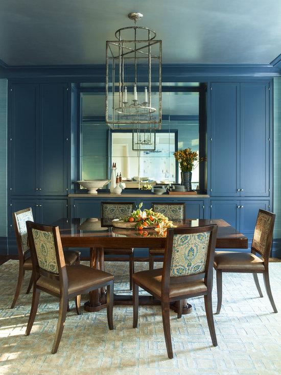 cobalt blue dining room design ideas, remodels & photos