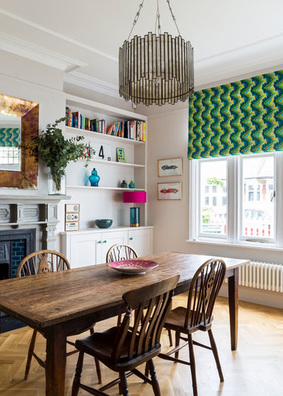 Transitional Dining Room by Chris Snook
