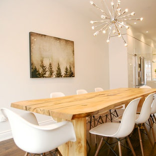 Inspiration For A Modern Dark Wood Floor Kitchen Dining Room Combo Remodel In Toronto With