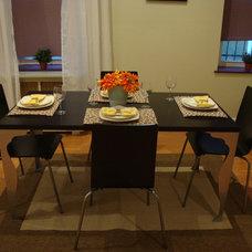 Contemporary Dining Room by Amanda Alligood