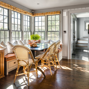 Inspiration for a farmhouse dining room remodel in New York